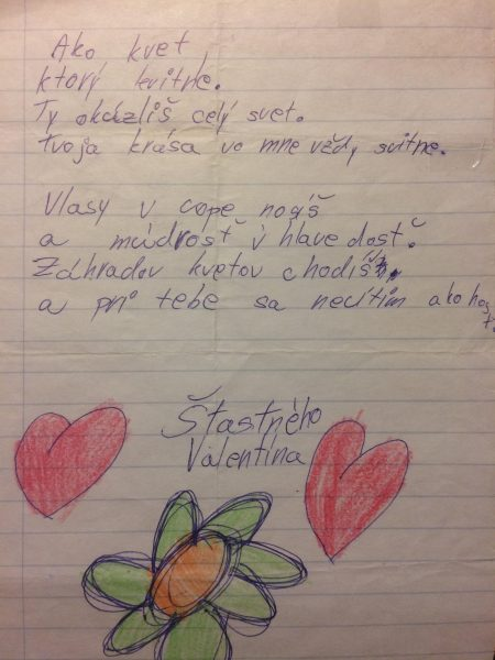 Láska - Zaľúbený list